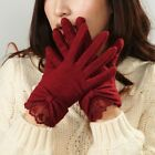 2015 Ladies' Wool Gloves w/lace&big Bow at Cuff Y017