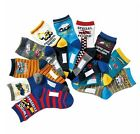 10 Pairs Boys Favorite Working Vehicles Novelty Socks Shoe Size 9-12/13-3 Set B