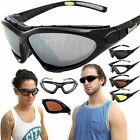 Chopper Wind Resistant Foam Padded Sunglasses Sports Motorcycle Riding Glasses