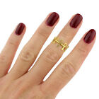 Vintage ankh cross above Knuckle ring, Gothic, Egyptian,Gold or silver