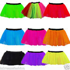 "LADIES NEON NET TUTU SKIRTS DANCE WEAR FANCY DRESS OUTFIT SIZE 14"" UK SIZE 8-22"