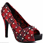 ABBEY DAWN BY AVRIL LAVIGNE WTH PEEP TOE STUDDED PLAID PLATFORM SHOES