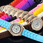 Silicone Band Crystal Jelly Fashion Ladies Casual Quartz Wrist Watch Watches NEW