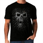 Halloween New Mens Women Skull Spider Top T-Shirt Party Gothic Web  *h111