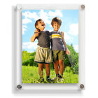 """Modern 10""""x8"""" Acrylic Photo Frame, Wall Mounted in CLEAR, WHITE or BLACK"""