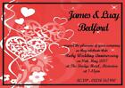 Ruby Wedding Anniversary Invitations - pack of 10, 25, 50, 100