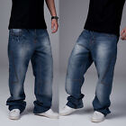 Graffiti embroidery Cool Men's Hip Hop Jeans Casual Pants Size 32-42