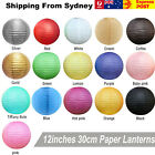 "10x 12""/30cm Round Paper Lanterns Party Chinese Birthday Wedding Decoration"