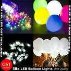 New 50 LED Balloon Lights 6 Colours Lantern Light up Lamp Balloons Glow in dark