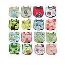 Assorted Embroidered Infant Baby Feeding Bibs 3pcs