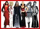 STEAMPUNK GOTHIC WOMENS VAMPIRE HALLOWEEN HORROR FANCY DRESS COSTUME SIZES 8-16
