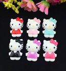 6pcs Cute Resin HELLO KITTY Bow flatback Appliques For DIY craft U Pick Color!