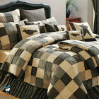 Black Country Primitive Patchwork Twin Queen Cal King Size Quilt Bedding Set