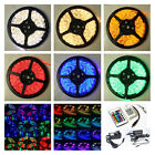 3528 5050 LED Strip Light RGB Cool/Neutral/Warm White Red Green Blue +Adapter UK