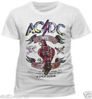 AC DC Dirty Deeds Parrot T Shirt OFFICIAL White  All Sizes NEW