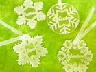 4 x acrylic snow flakes, Christmas decoration, tree ornaments personalised gift