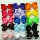 "15pcs 5.5"" Big Hair Bows Boutique Girls Baby Alligator Clip Grosgrain Ribbon"