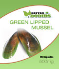 Green Lipped Muscle 500mg Capsules Joint Pain Relief UK Manufactured