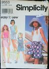 Simplicity 9553 Easy to sew Girls Separates Multi Size Options