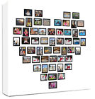 Photo Collage Canvas Bold Heart Shape