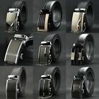 Mens Automatic Buckle Genuine Leather Waist Strap Business Belts Black 8889