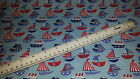 blue red white sailing boats stay put blanket or liner and harness pads