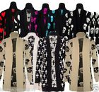 NEW LADIES WOMENS SKULL BOYFRIEND KNITTED CARDIGAN PLUS SIZE 16 18 20 22 24 26
