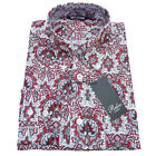 Mens Vintage PAISLEY Shirt by Relco Button Down Collar NEW All Sizes MOD Retro