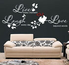 WALL QUOTES LIVE LAUGH LOVE Wall Art Stickers Wall Decal Sticker  S50