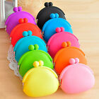 Fashion Lady gift Girl Women Silicone Coin Purses Rubber Wallets Bag Colorful