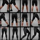 Mens BLACK Outdoor Sports Base Layer Compression PANTS SHORTS 3/4 LENGTH Take 5