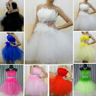 Short Feather Evening Bridesmaid Dress Prom Dress Formal Party Ball Gowns UK010