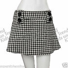 GIRLS Mini Skirt Houndstooth Pattern KIDS Ex Store 11-14 Years NEW Winter Skirt