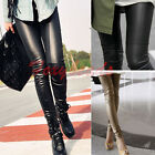 HOT Sexy Womens Faux Leather Leggings  Stretch Trouser High Waisted