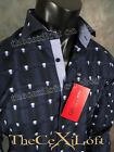 NWT! Mens Button-up Woven AVON by GEORG ROTH Sport Shirt in Blue
