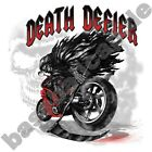 T-Shirt #553 DEATH DEFIER, Biker CHOPPER, Route 66 Dragrace USA Skull  Custom