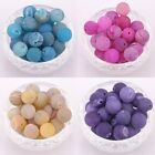 10pcs Round Imitation Agate Gemstone Frosted Spacer Beads 12mm for Craft