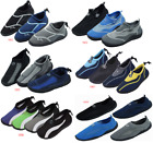 New Men's Athletic Mesh Water Shoes Aqua Socks Available In Multiple Styles
