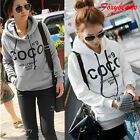 M-XXL Women Korean Hoodie COCO Jacket Coat Sweatshirt Outerwear Hooded Sweater