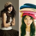 Ladies Womans Knitted Warm French Style Plain Fashion Vintage Beret Cap Hat New