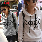 Korean Fashion Womens Casaul Hooded Sweatshirt Pullover Hoodie Coat Outerwear