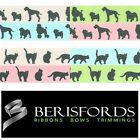 Berisfords Ribbons Polyester Cat Or Dog Pets Theme, Pastel 15mm 2 Metres 13773