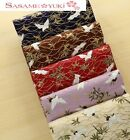 Vintage Japanese Cotton Fabric Cloth  bird crane five colors by 1/2 yard