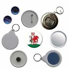 Cardiff Wales Flag Pin Button Badge Magnet Keyring Bottle Opener Mirror