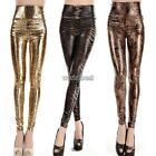 New Fashion Women´s Sexy Skinny Faux Leather High Waist Leggings Pants Tights WS