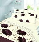 Printed Flannelette Fitted Sheet and Flat Sheet Set With Pillow Cases, 3 Sizes