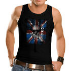 New London Flag Jack Women Mens Tank T-Shirt Gothic Skull England British *th79