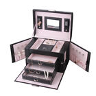 Vintage Quilting Jewelry Box Necklace Rings Storage Case Armoire Gift Box ZG223