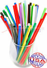1 CASE JUMBO plastic drinking straws - 7 3/4 x 0.21 Inch - color selectable