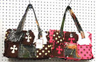 SMALLER CAMOUFLAGE CAMO WESTERN PURSE RAGBAG RAG CROSS BAG PINK  BROWN
